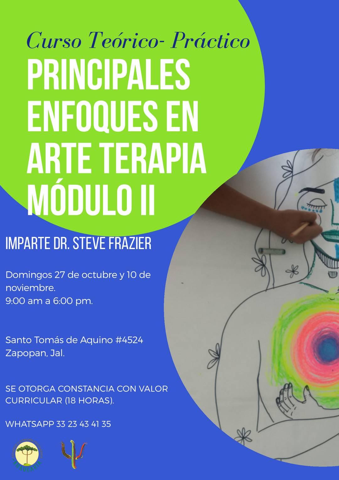27 Octubre y 10 Noviembre 2019 - Principales Enfoques en Arte Terapia
