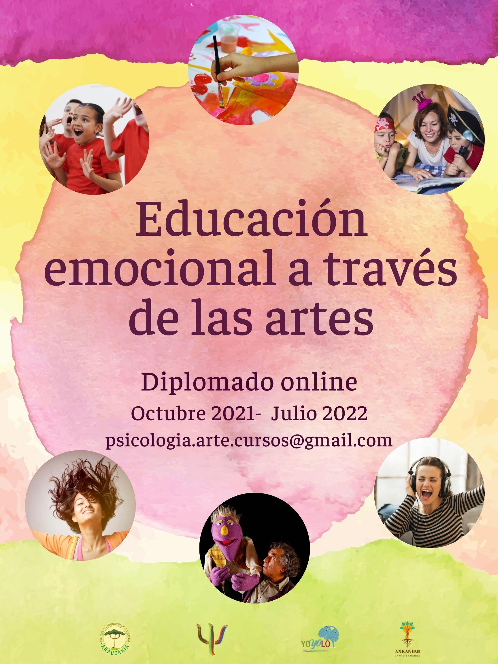 cartel diplomado Educación emocional a través de las artes